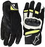 Alpinestars 1694370403 Motorrad Handschuhe, Schwarz/Weiss/Gelb, L