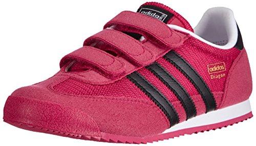 Adidas M17083, Mädchen Laufschuhe, Mehrfarbig (Bopink/Cblack/Ftwwht), Gr. 28 EU