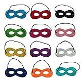 #6: 12Pcs Colorful Superhero Masks Eye Masks Felt Half Masks With Elastic For Kids Party Masquerade Birthday Party Decoration | fancy dress costume | kindergarden | fancy dress shop | baby show event | Manufactured by Fancy | Birthday party | b'day party | return gift