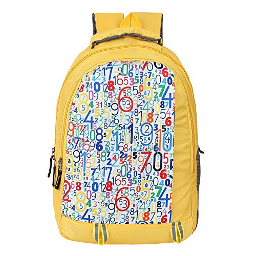 Dussle Dorf Polyester 15 L School Backpack for Kids  Yellow