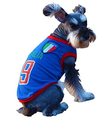 te Costume - Disguise - der Fußballmannschaft - Unterstützer - Italien - Hund (M) ()