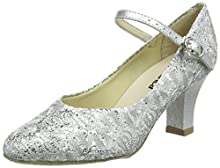 So Danca Bl166, Danse de Salon femme - Argent (Silver Sparkle), 37 EU (4.5 UK)