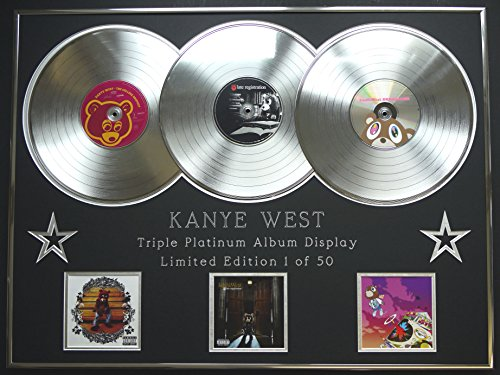 KANYE WEST/Dreifach-Platin Album anzeigen/Limitierte Edition/COA/THE COLLEGE DROPOUT + LATE REGISTRATION + GRADUATION