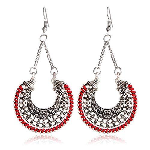 Sungpunet Fashion Bohemian oxidiertes Silber Stilvolle Party-Ohrringe für Damen & ()