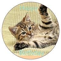 tabby cucciolo gatto Topper Per Torte commestibili