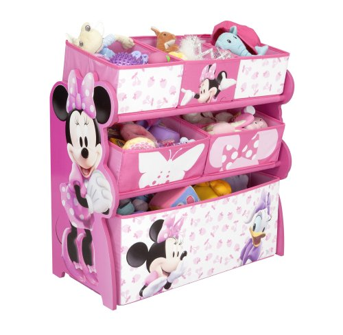Delta TB 84869 Minnie Multi Bin Ablage Regal circa 63 x 40 x 33 cm, MDF und Canvas