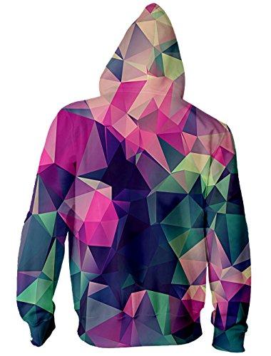 BFUSTYLE Unisex Galaxy Nebula Zip Up Hoodie All Over Print Jacket Sweatshirt 2017 style-Geometric