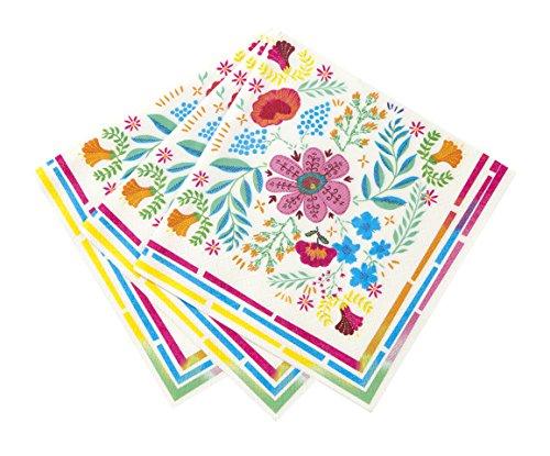 Mix Floral 33cm Serviette 20Stück, Papier, Multi, 1,5x 20x 20cm (Teller Und Tassen Für Hochzeit)