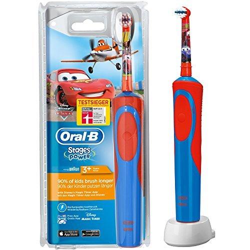 Oral-B Stages Power Akku Cars elektrische Kinderzahnbürste mit Timer -