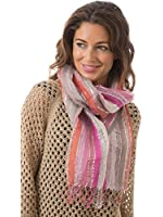 Womens/Ladies Striped Scarf With Lurex, Size 192 x 50cms, Various Colours
