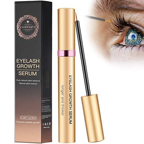 8ml Wimpernserum Augenbrauenserum Wimpern Booster Lash Serum Eyelash Growth Serum mit Hyaluronsäure für Wimpernwachstum und Augenbrauenwachstum Lange Wimpern und Augenbrauen von Comtervi -