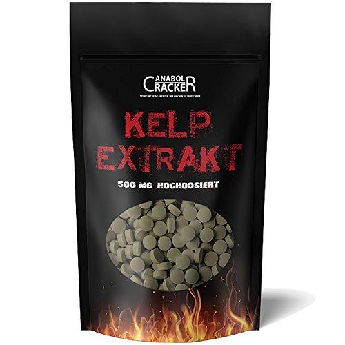 500 Tabletten - Kelp Extrakt, 500mg Kelp mit 150mcg Jod / Tablette, für Veganer geeignet, natürliche Quelle für Jod - Sea Algen - Entgiftung (Sea Kelp Pulver)
