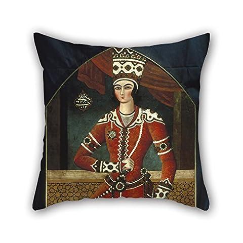 Slimmingpiggy Taies d'oreiller de peinture à l'huile Mohamed Hassan–Prince Yahya pour garçons Barre de chaise d'intérieur Club enfants garçon garçon ami 50,8x 50,8cm/50par 50cm (Double Sides)