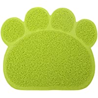 ISKYBOB Alfombrilla de Tazón Alimentación Estera Perros Comida Comedero para Animal Doméstico Mascotas Gatos ...