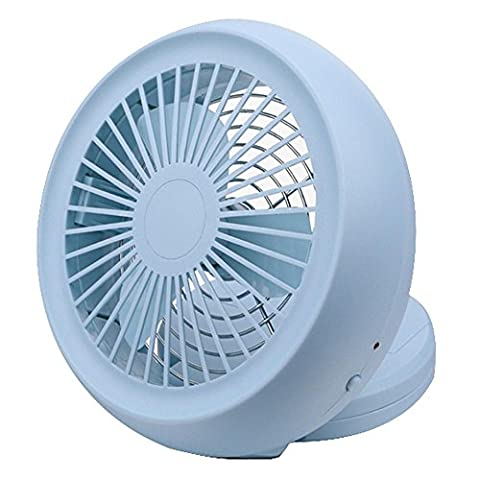 usb mini ventilateur batterie petit ventilateur portable USB à double usage 6 pouces , light blue spot