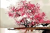 Canvas Painting - A Beautiful Tree of Cherry - Modern Canvas Painting For Home And Office Décor (22 inch x 35 inch)