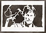 Poster Daryl Dixon The Walking Dead Affiche Handmade Graffiti Street Art - Artwork