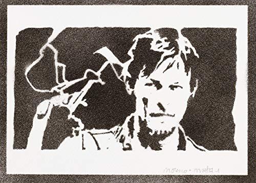 Póster Daryl Dixon The Walking Dead Grafiti Hecho A Mano - Handmade Street Art...