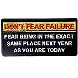 EmbTao Fürchte Dich Nicht vor Misserfolg, Fürchte Dich Davor, an Genau demselben Ort im Nächsten Jahr zu Sein Bestickter Aufnäher Zum Aufbügeln/Annähen