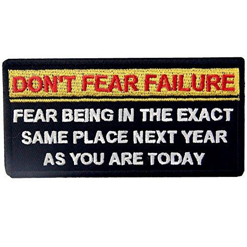 Don 't Fear Stromausfall, Ängste, in der genau gleichen Ort nächsten Jahr Tactical Patch Bestickt Moral-Applikation Eisen auf Sew auf Emblem -