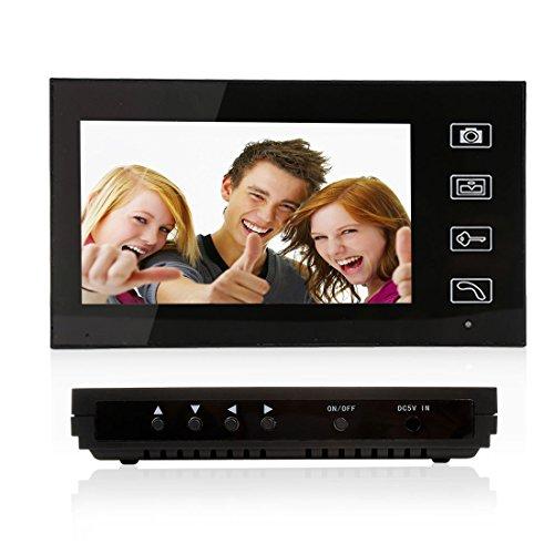 PUTECA 7 inch Wireless Video Door Phone Video Intercom Doorbell Home Security IR Camera Monitor Night Vision 1 VS 1