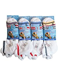 12 Pairs Fresh Feel Sport Max Cushioned Trainer Liner Socks L10704