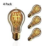 ZOOVQI Edison LED Glühbirne Retro Glühlampe Vintage E27 40W A19 Dekorative Dimmbar Beleuchtung Birne Für Haus Wohnzimmer Büro Café Bar usw