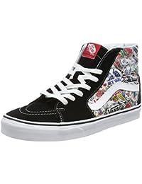 Vans Unisex-Erwachsene SK8-Hi Hohe Sneakers, Mehrfarbig ((Mlx) Stickers/Black), 44 EU