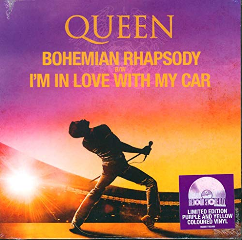 Bohemian Rhapsody b/w I'm In Love with my car (Purple & Yellow Coloured Vinyl)