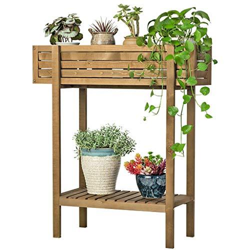 Groove Art Massivholz Blume stehen große Kapazität Balkon Holz Blumentopf Rack Wohnzimmer Grünpflanze Regal -