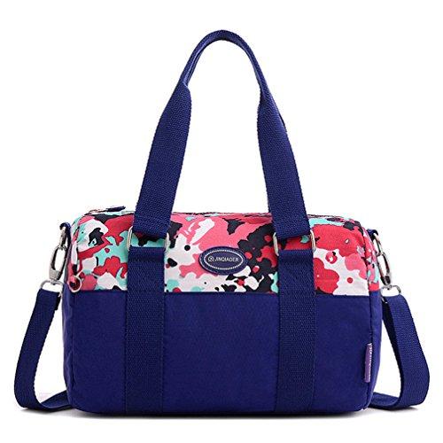 Nylon Cool Damen Handtaschen, Hobo-Bags, Schultertaschen, Beutel, Beuteltaschen, Trend-Bags, Velours, Veloursleder, Wildleder, Tasche Tiefblau Keshi