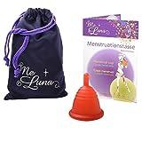 Me Luna Menstruationstasse Classic, Stiel, Rot, Größe Shorty M