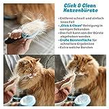 Bluepet *ZupfZeug* Fellbürste mit Click Clean Selbstreinigend |Sanfte Katzenbürste Zupfbürste | Kurzhaar bis Langhaar - 5