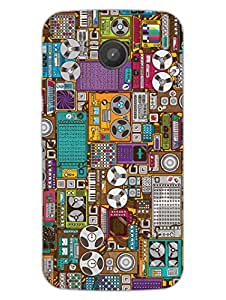 Moto E Back Cover - Grab Your Jukebox Now - Music On The Way - Designer Printed Hard Shell Case