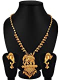 #5: YouBella Fashion Jewellery Gold Plated Bahubali Traditional Necklace set for women party wear Jewellery set with Earrings For Girls/Women