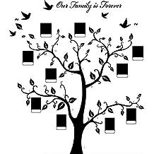 missley enorme Negro Marco de fotos memoria de adhesivo de pared de pvc rama de árbol Vinilo Adhesivos Pegatinas de Pared Extraíble