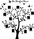 Missley schwarz Bilderrahmen PVC Wandtattoo Aufkleber Speicher Baum AST Vinyl Abnehmbare Wandaufkleber Aufkleber