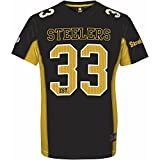 Majestic Pittsburgh Steelers Moro Est. 33 Mesh Jersey NFL T-Shirt S