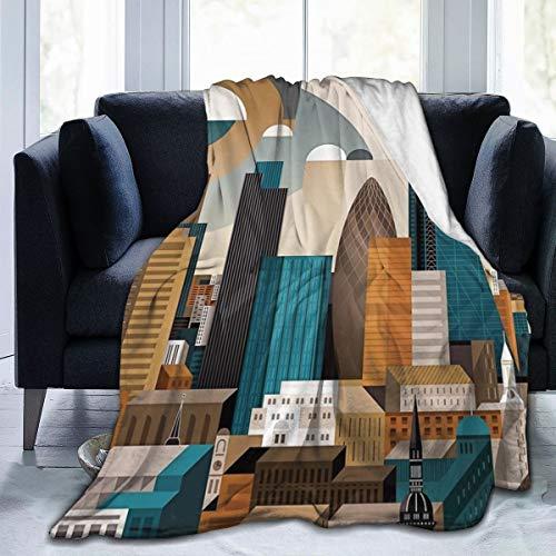 Meiya-Design Manta de Forro Polar de 50 x 60 Pulgadas - City...