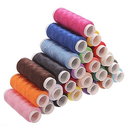 ndier 24 Pcs Multi-Colored Yarn bobines Bobine fil à coudre pour coudre 200 m Papeterie et produits pour bureau