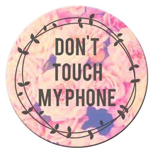Pop Phone Grip ausziehbarer Ständer Multifunktionaler Smartphone-Halter Universal Telefon Finger hands Socket Halterung - Rosa Mandala(Farbe Blumen) (Lila Eule Iphone 5 Fall)