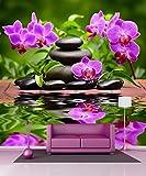 Sticker riesen Deko Orchidee und Kieselsteine 11033, 250x250cm