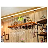 Weinregal Weinglas Rack Massivholz Multi-Size-Multi-Color-Bar Startseite Becher Rack Upside Down Suspension (Farbe : A, größe : 100 * 28)
