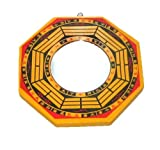 BFlowerYan Traditionnel Chinois Feng Shui Bagua Miroir, Bois Dense, Multicolore, 6-inch...