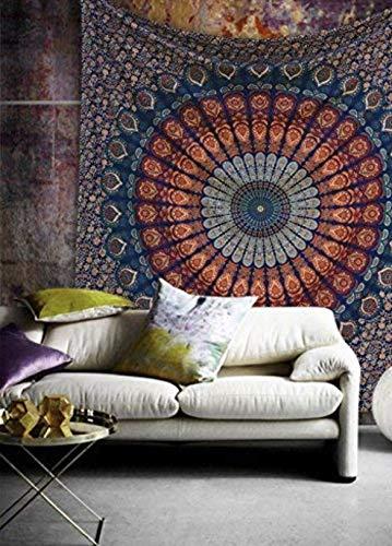 Multi-colored Mandala Tapestry Indian Wall Hanging