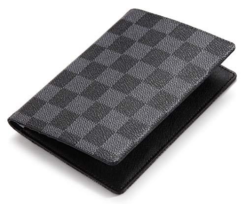 Daisy Rose Passeport Luxe Case Holder Couverture | Pu cuir végétalien Rfid Organisateur Voyage Porte-cartes Petit Noir