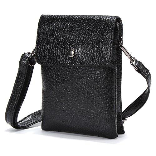 Mopaclle donna borsello in eco-pelle borsa a tracolla telefono cellulare borsa per passaporto,iphone 7 plus