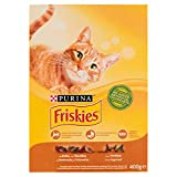 Friskies-Complete food for adult Cats, with added Chicken, Turkey and Olives-400g