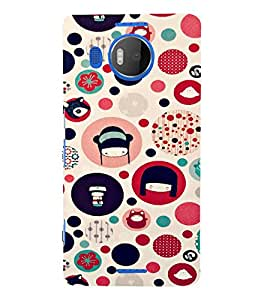 EPICCASE Cute Face Case Mobile Back Case Cover For Microsoft Lumia 950 XL (Designer Case)