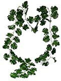 levandeo Monstera Blätter Girlande 280cm Kunstpflanze Kunstblume Grün Pflanze Deko Partydeko Wanddeko